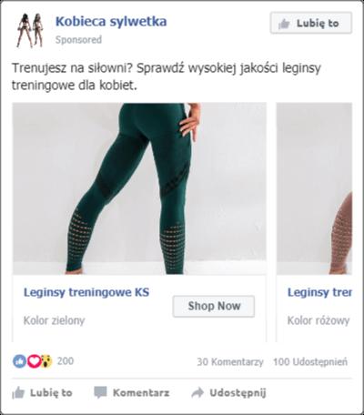 Reklamy karuzelowa na facebooku